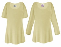 CLEARANCE!  Tan Slinky Plus Size & Supersize Shirt 0x