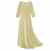CLEARANCE! Tan Slinky Plus Size Long Sleeve Dress 5x TALL