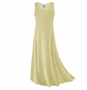 CLEARANCE! Tan Or Cream Slinky Plus Size & Supersize Tank Dress 1x