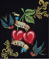 SOLD OUT! SALE! Tattoo Prints! Bleeding Heart Love Plus Size & Supersize T-Shirt 2XL