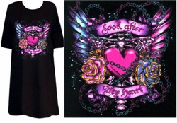 """SOLD OUT! SALE! Tattoo Prints! """"Look After my Heart"""" Plus Size & Supersize T-Shirts 3xl"""