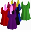 SALE! Black Royal Red Purple Hot Pink Cotton Lycra Mock Button Top Plus Size & Supersize Short Sleeve Shirt 1x 2x 4x 5x 8x