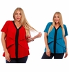 CLEARANCE SALE! Teal or Red Plus Size Layered Ruffled Slinky Top 4x