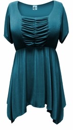SOLD OUT! SALE! Teal Plus Size & Supersize Babydoll Top 5x