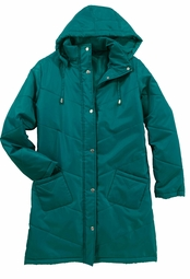 SOLD OUT!!!! Teal Quilted Plus Size Coat 4x