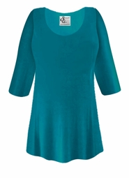 SOLD OUT! CLEARANCE! Plus Size Teal Slinky Top 4x