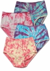 SOLD OUT! Tie Dye Pink or Purple Ribbed or Front Flower Plus Size Panties Size 10 11 12