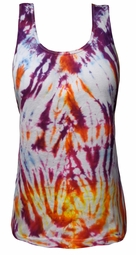 SOLD OUT! Tie Dye Sunset Burst Purple Orange Yellow Petite Plus Size Tank Top 4x