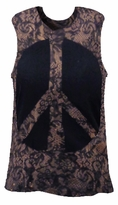 SALE! Tiedye T-Shirts! Black Lace Peace Sign Tanks 2x
