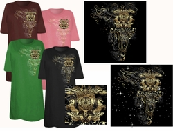 SOLD OUT! Tiger Shoulder Tattoo Plus Size & Supersize T-Shirts 5xl