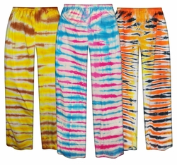 CLEARANCE! Plus Size Tiger Tie Dye Pants 2x