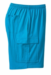 SOLD OUT! SALE! Turquoise Blue Jersey Cargo Plus Size Shorts 9x