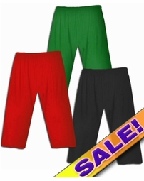 SALE! Red - White - Cute Slinky Plus Size SUPERSIZE Capri's 2x 4x