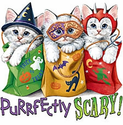 SOLD OUT!!!! Turquoise Purrfectly Scary Cat Halloween Kitty's Plus Size T-Shirts 1x (Lights Only)