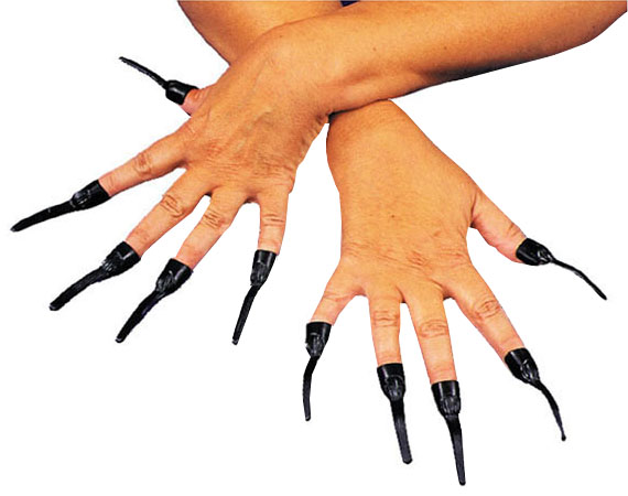 Sale Vampire Or Witch Slip On Nails Black