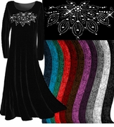 SALE! Velvet Rhinestud Plus Size & Supersize Dresses and Tops or Plain Velvet xl 0x 1x 2x 3x 4x 6x 8x 9x