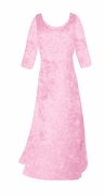 SOLD OUT! SALE! Very Light Pink Crush Velvet Plus Size & Supersize Sleeve Dress XL