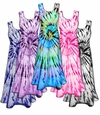 CLEARANCE! Vivid Swirl Cotton Tie Dye Plus Size & Supersize Princess Cut Tank Dress  3x