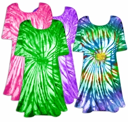 SOLD OUT! CLEARANCE! Vivid Swirl Tie Dye Plus Size & Supersize X-Long T-Shirt 4x