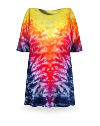 SOLD OUT! CLEARANCE! Volcano Tie Dye Plus Size T-Shirt XL