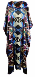 SALE! Plus Size Vortex Print Long Caftan Dress or Shirt 1x-6x