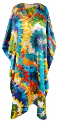 SALE! Customizable Plus Size Bright Floral Print Long Caftan Dress or Shirt 1x-6x