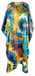 SOLD OUT! Customizable Plus Size Bright Floral Print Long Caftan Dress or Shirt