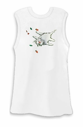 FINAL CLEARANCE SALE! Shocking Christmas Xmas Kitty White Plus Size Tank Top 2x