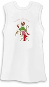 SALE! Naughty Little Helper White Plus Size Tank Top 2x