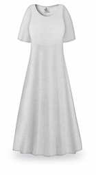 SOLD OUT! CLEARANCE! White with Silver Glimmer Slinky Plus Size Supersize Sleeve Dress 0x 2x