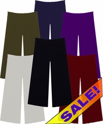 SALE! Just Added! Slinky Wide Leg Palazzo Pants Many Colors with Elastic Waist  Plus Size & Supersize  0x