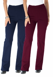 SOLD OUT! SALE! Wine or Blue Tall Stretch Bootcut Plus Size Leggings  4x/30