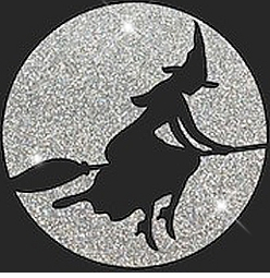 SOLD OUT! FINAL SALE! Witch on Broomstick Glittery Halloween Plus Size & Supersize T-Shirts 2xl