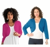 SALE! Women's Plus Size Bolero Cardigan in  Rich Blue or True Purple 5x