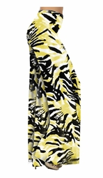 SOLD OUT! Yellow & Black Abstract Slinky Print Special Order Customizable Plus Size & Supersize Pants, Capri's, Palazzos or Skirts! Lg to 9x