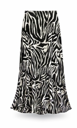 SOLD OUT! CLEARANCE! Zebra Print Slinky Plus Size Supersize Skirt 4x
