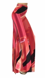 SOLD OUT!!!!!!!!!!!!!!!! Salmon & Tan Abstract Slinky Print Special Order Customizable Plus Size & Supersize Pants, Capri's, Palazzos or Skirts! Lg to 9x