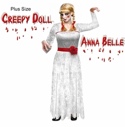 Creepy Doll Anna Belle Plus Size Halloween Costume Sizes S-XL u0026 Plus  sc 1 th 227 & Stars of the Silver Screen! Plus Size Costumes