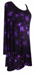 SOLD OUT! Shimmering Black & Purple Glittery Shirt Plus Size