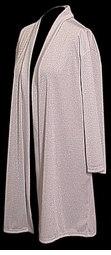 SOLD OUT! Silvery-White Glimmering Plus Size & Supersize Duster-Jacket 1x to 6x