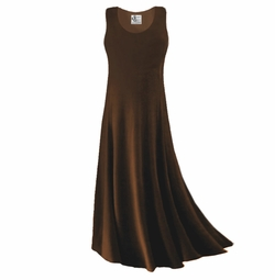 09ac0dc92b99b Simply Lovely Solid Dark Brown Plus Size Slinky Tank Dress 1x 2x 3x 4x