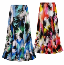 SALE! Customizable Plus Size Marvelous Slinky Print Skirts - Sizes Lg XL 1x 2x 3x 4x 5x 6x 7x 8x 9x