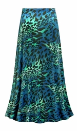 SALE! Customizable Plus Size Teal & Green Animal Slinky Print Skirts - Sizes Lg XL 1x 2x 3x 4x 5x 6x 7x 8x 9x
