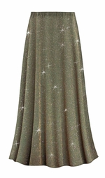 SALE! Customizable Plus Size Sparkling Olive Glitter Slinky Print Skirts - Sizes Lg XL 1x 2x 3x 4x 5x 6x 7x 8x 9x