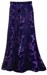 SOLD OUT! Skirts! Stunning! Sheer Black & Purple Velvety Flocked Customizable Plus Size & Supersize Sheer Skirts! Lg XL 1x 2x 3x 4x 5x 6x 7x 8x