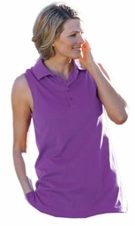 SOLD OUT! Just Reduced! Sleeveless Purple Tunic Length Polo (Top Only) 3x, 4x, 6x