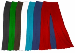 Palazzo's! SLINKY or Velvet Colors! Wide Leg Plus Size Palazzo Pants Solid Color XL 0x 1x 2x 3x or Supersize 4x 5x 6x 7x 8x 9x