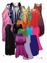 Slinky Dresses, Tops, Pants, <br>Jackets, Palazzos & Skirts<br>Plus SIze & Supersize 0x to 9x