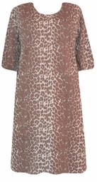 SOLD OUT!!1! s6020 Tan Leopard Plus Size & Supersize T-Shirts 1x 2x