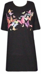 SOLD OUT!!!!!!!!!!!!!!!!!11Colorful Butterflies Plus Size T-Shirts 4xl 5xl